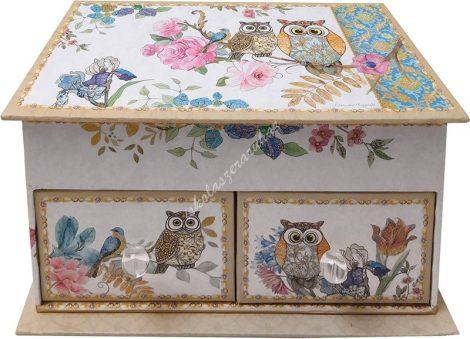 Owl - Ékszertartó 2 fiókos 52910