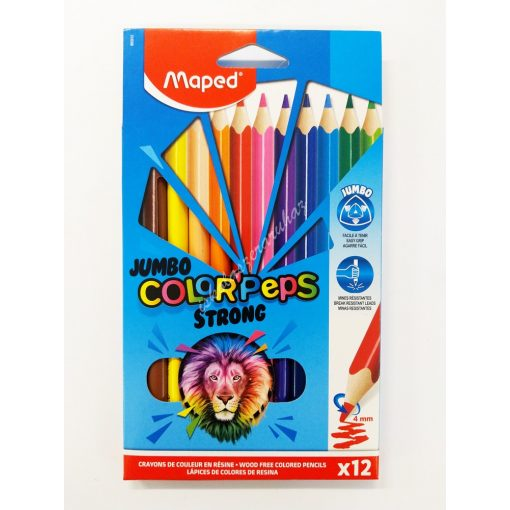 Maped színes ceruza 12 darabos Maxi Strong