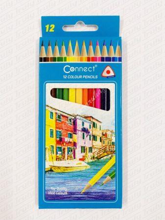 Színes ceruza Connect 12 darabos háromszög