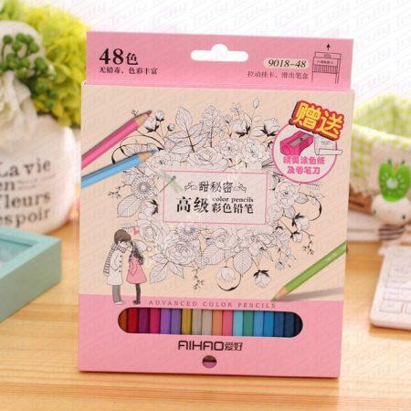 Aihao színes ceruza készles, 48-as