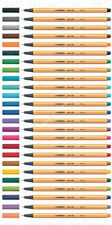 Stabilo 88 tűfilc, 30 féle színben