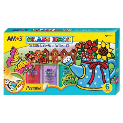 Amos 6-os üvegfesték szett 22 ml.