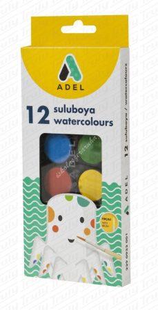 Vízfesték 12 darabos Adel 933 kisgombos