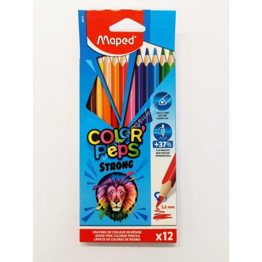 Maped színes ceruza 12 darabos Strong