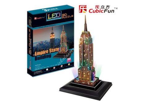 3D Puzzle LED világítással - Empire State Building (USA) l503