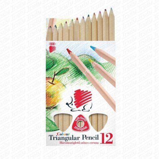 Süni Ico háromszögletű natúr Jumbo színes ceruza 12-es