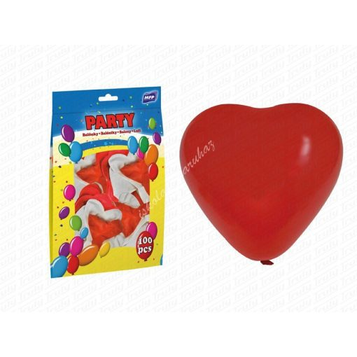 Lufi 100 darabos szív alakú 30 cm-es