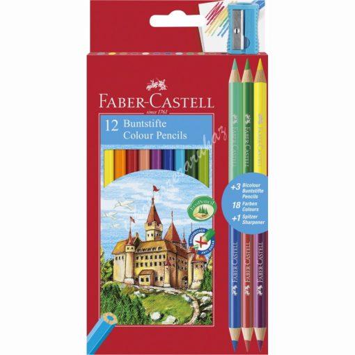 Faber-Castell színes ceruza készlet 12+3
