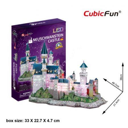 3D Puzzle LED világítással -  Neuschwanstein Castle l174