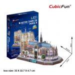 3D Puzzle LED világítással - Notre Dame de Paris (Franciaország) l173