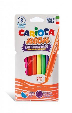 Carioca filc 8 darabos neon