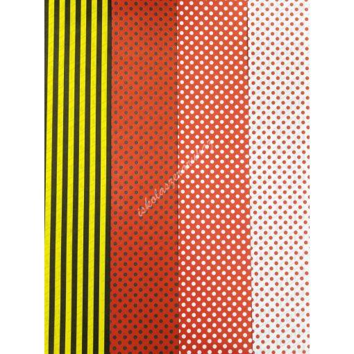 Favini kétoldalas dekor karton A/2 mintás, 300 gr.