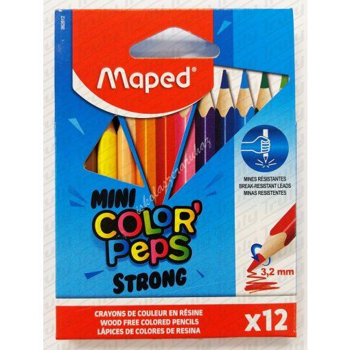 Maped színes ceruza MINI 12 darabos Strong