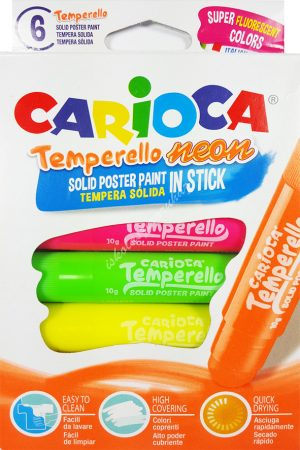 Carioca tempera kréta 6 darabos neon Temperello 42675