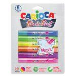Carioca textil festék 3D 6 darabos neon 42131