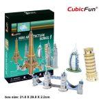 3D Puzzle - Mini építészet 1 c056