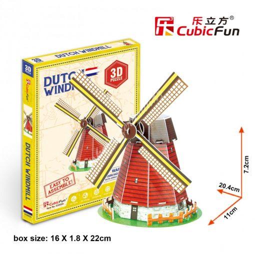 3D Puzzle - mini Holland szélmalom s3005