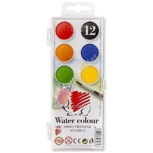 Vízfesték 12 színű Ico Süni kisgombos
