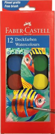 Faber-Castell vízfesték 12 színű nagygombos