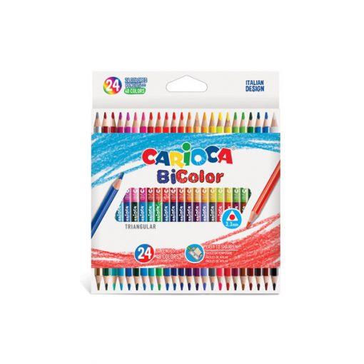 Carioca színes ceruza BiColor kétvégű 24 darabos 43031