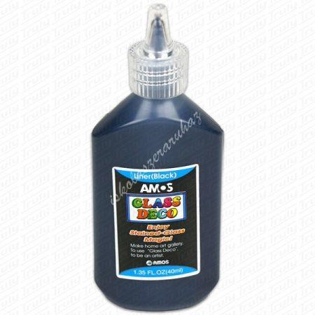 Amos kontúrfesték 40 ml - fekete
