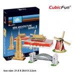 3D Puzzle - Mini építészet 3 c086