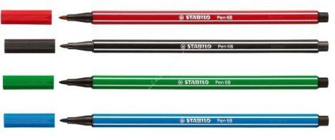 Stabilo 68 vastag filctoll 4 különböző színben