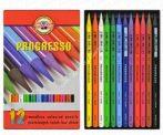 Koh-I-Noor Progresso színes ceruza 12 darabos készlet