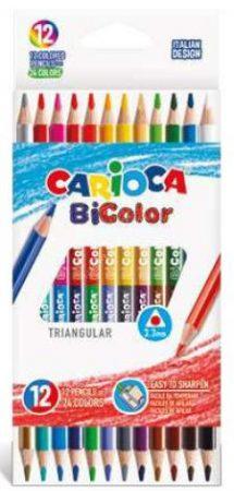 Carioca színes ceruza BiColor kétvégű 12 darabos 42991