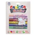 Carioca textil festék 3D 6 darabos gyöngyház 42139