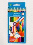 Connect hatszögletű 12-es színes ceruza készlet