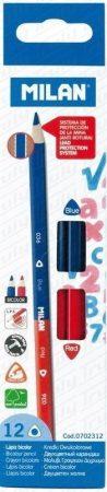 Milan piros-kék háromszögletű színes ceruza