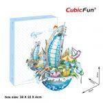 3D Puzzle persely - Dubai városkép oc3202