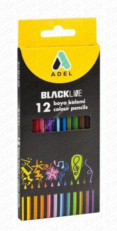 Adel színes ceruza feketefás 12-es 2312