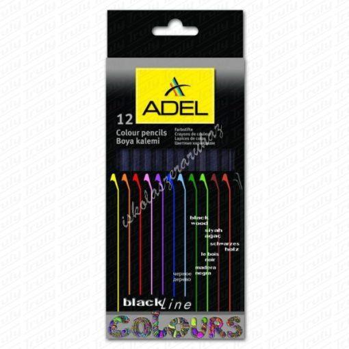 Adel natúr fekete fás színes ceruza készlet, 12-es 2316
