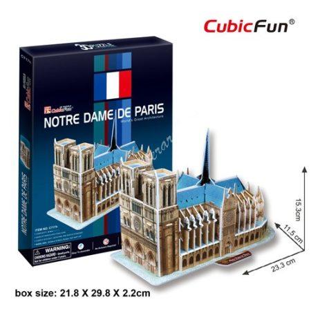 3D Puzzle - Notre Dame de Paris (Franciaország) Notre-Dame-székesegyház c717