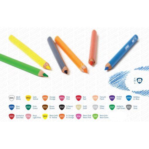 Edu3 háromszögletű Jumbo színes ceruza 22 különböző színben