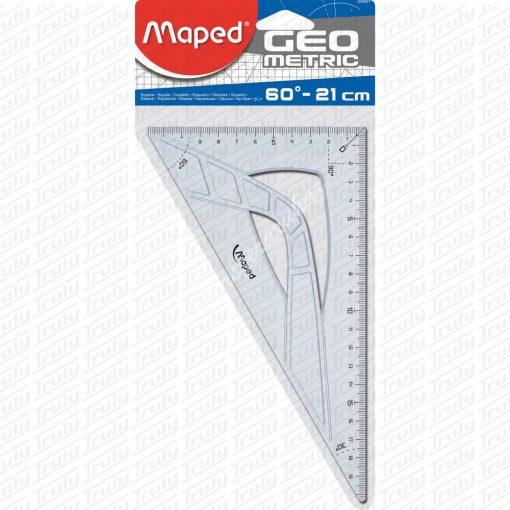 """Maped háromszög műanyag vonalzó, """"Geometric"""" 60°, 26 cm"""