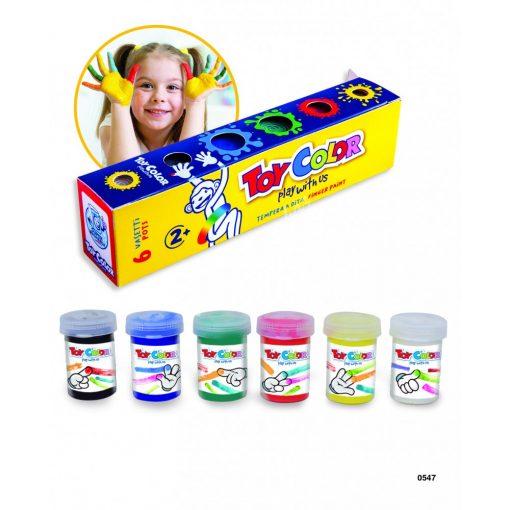 ToyColor ujjal kenhető festék 6 db 25 ml. 0547