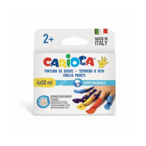 Carioca ujjfesték 4 db-os 43173