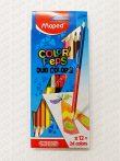 Színes ceruza Maped 12 darabos kétvégű