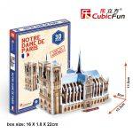 3D Puzzle - mini Notre Dame s3012