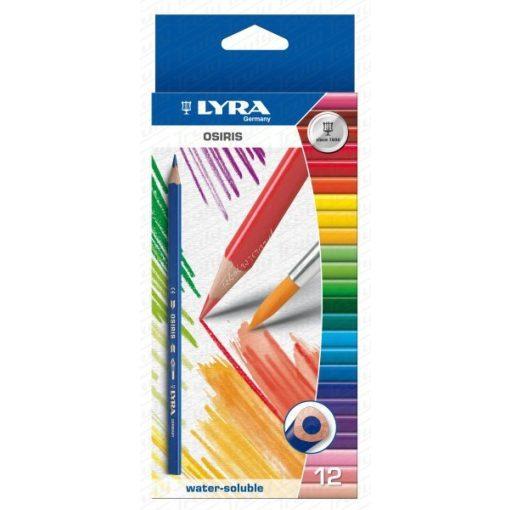 Lyra Osiris akvarell színes ceruza 12-es + ecset