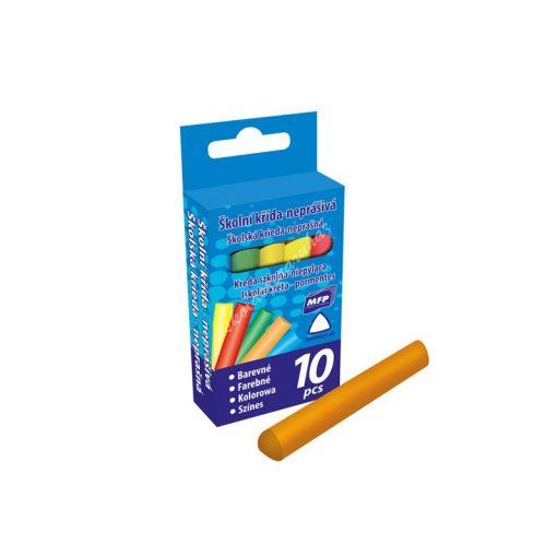 Táblakréta MFP 10 db-os színes háromszögletű