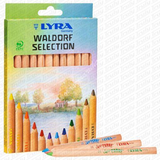 Lyra színes ceruza 12 darabos Waldorf natúr jumbo