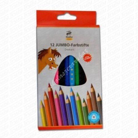 Staufen Linea maxi Jumbo színes ceruza 12-es háromszögletű natúr