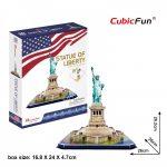 3D Puzzle - Statue of Liberty (U.S.A) Szabadság-szobor c080