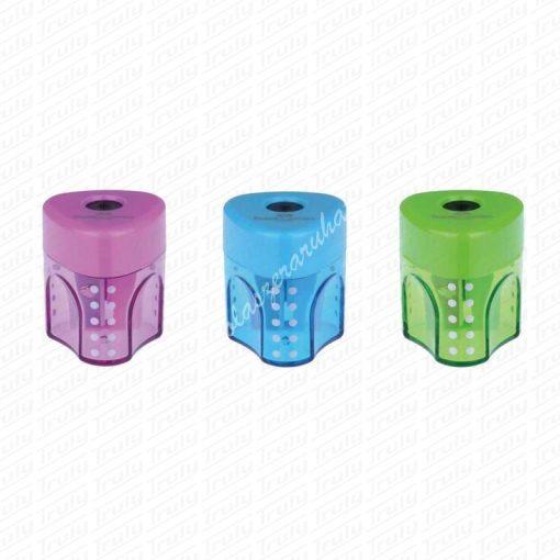 Faber-Castell mini Grip egylyukú hegyező átlátszó