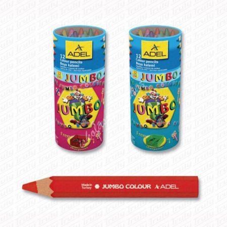 Adel 12es Jumbo feles színes ceruza készlet