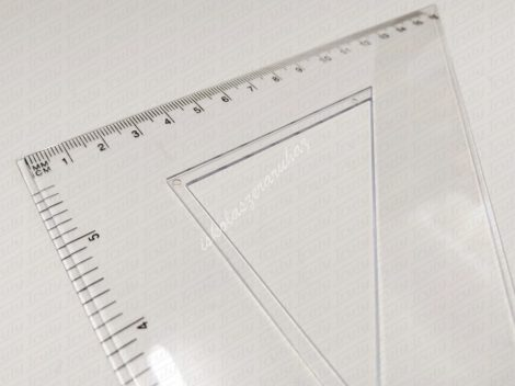 Educa háromszög vonalzó, 45°, 60° változatban